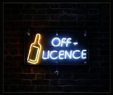 Off Licence Neon Sign